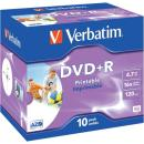 Verbatim DVD+R 4,7GB 16X 10 ks JC PRINT