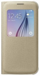 Samsung EF-CG920BF Flip S-View Fabric S6, Gold